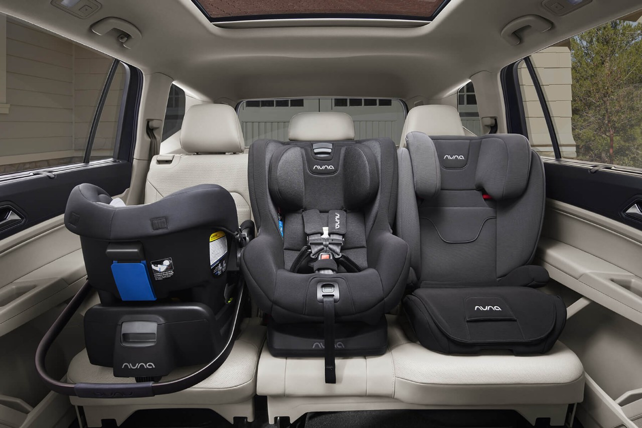 SECOND ROW WITH ROOM FOR THREE CHILD SEATS