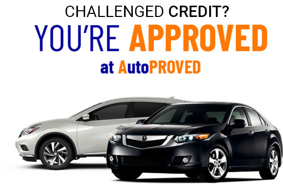 Challenged Credit? You're Approved at AutoPROVED