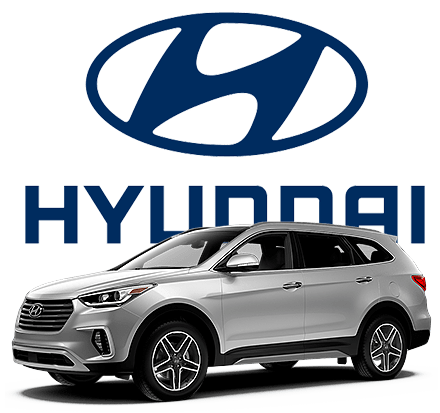 Hyundai Car and Logo Image