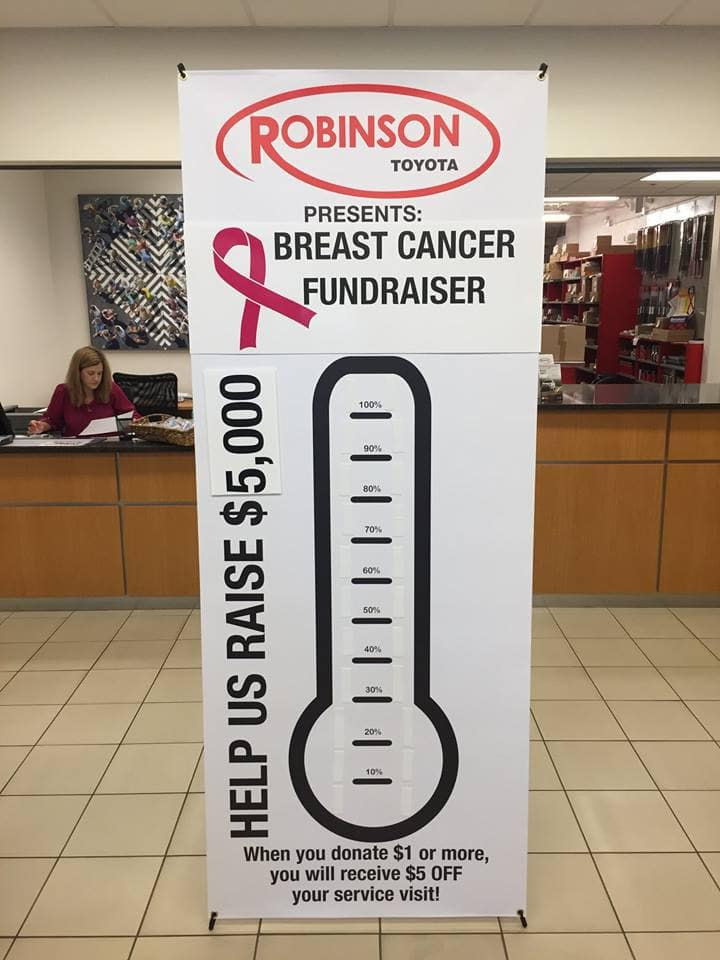 Robinson Toyota is Raising Money for Breast Cancer Awareness!
