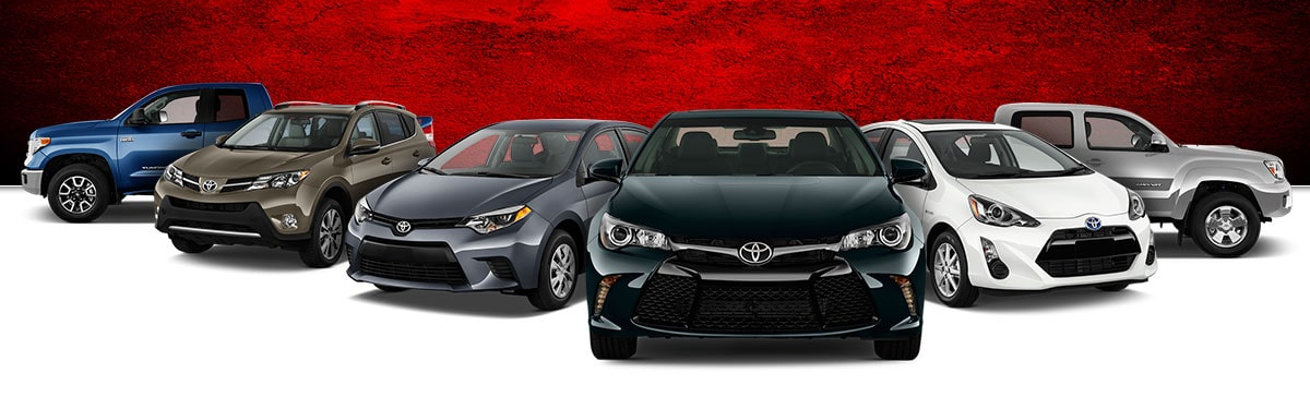 Used Toyota Model lineup