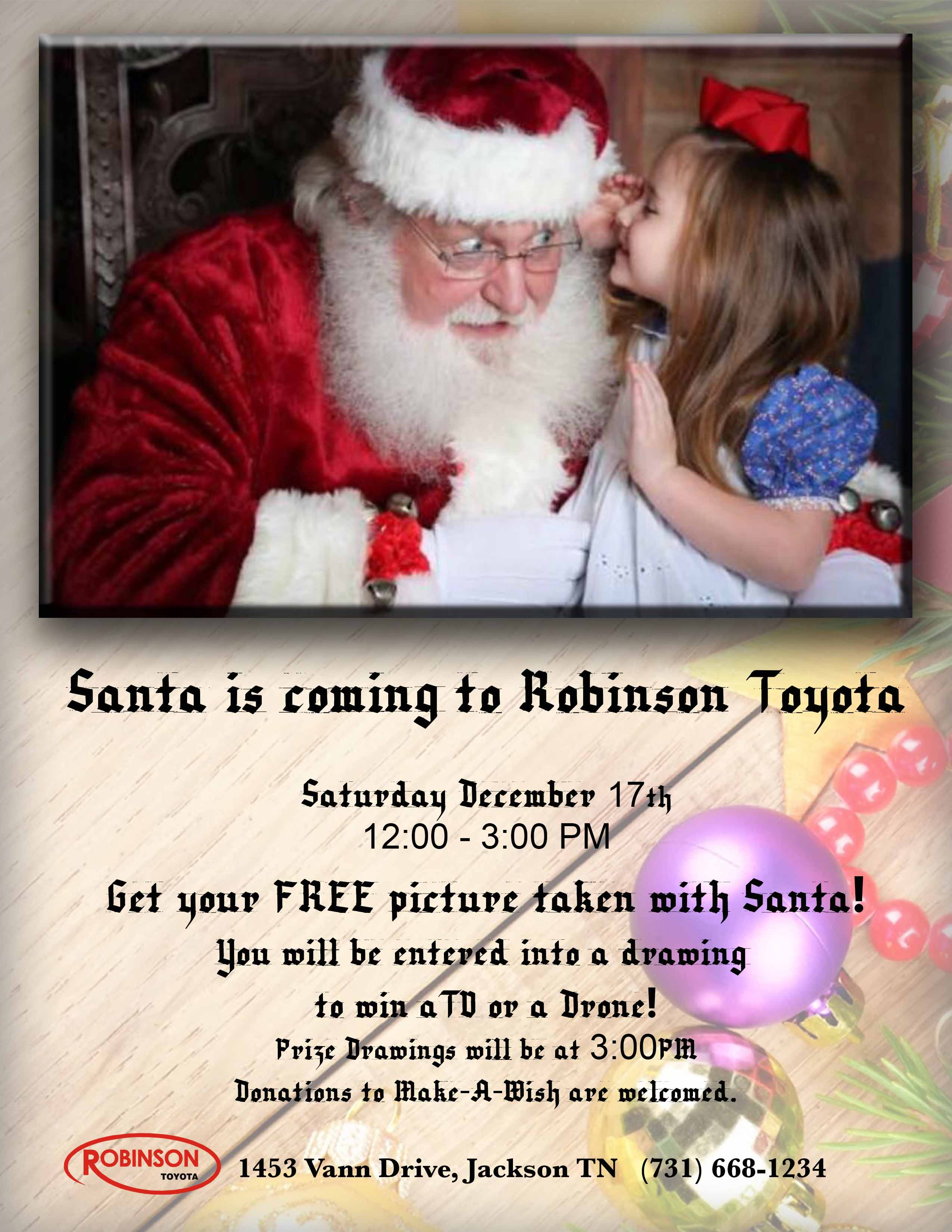 Come Meet Santa on Saturday December 17th from 12:00-3:00PM