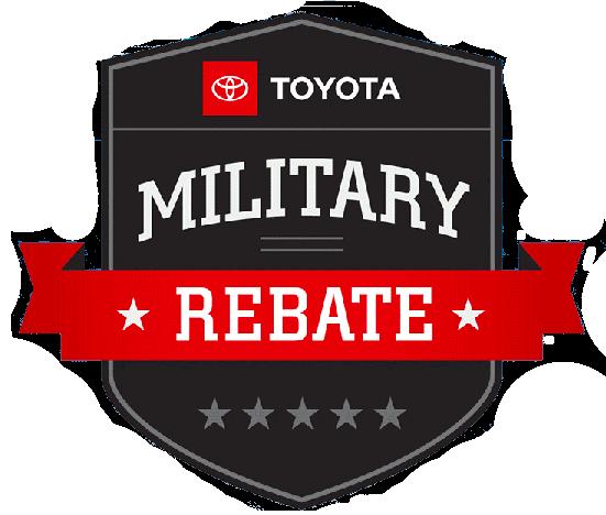toyota military rebate logo