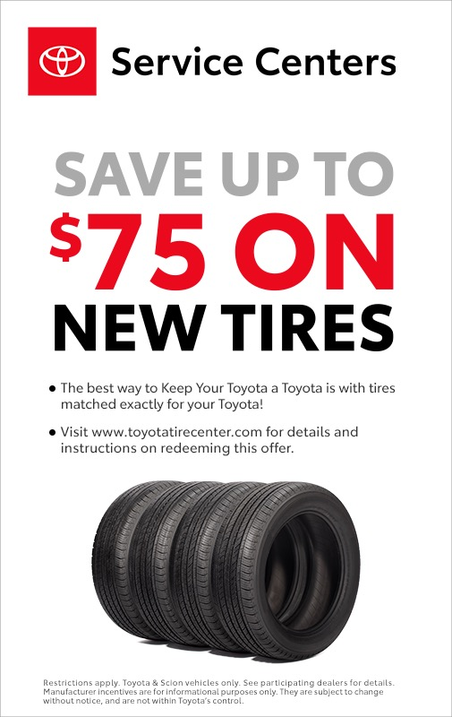 service specials - save $75 on tires