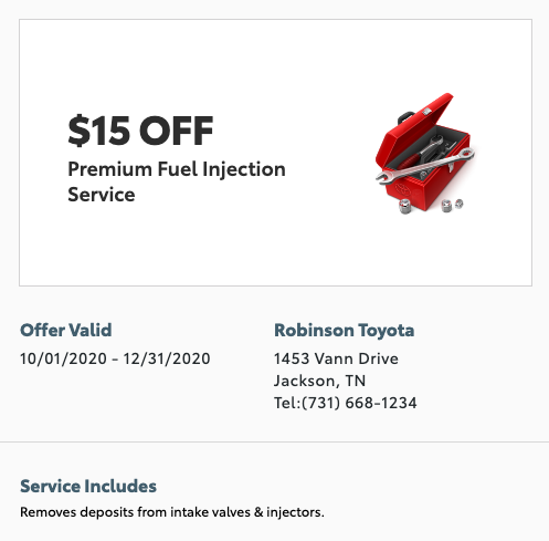 service special - premium fuel injection