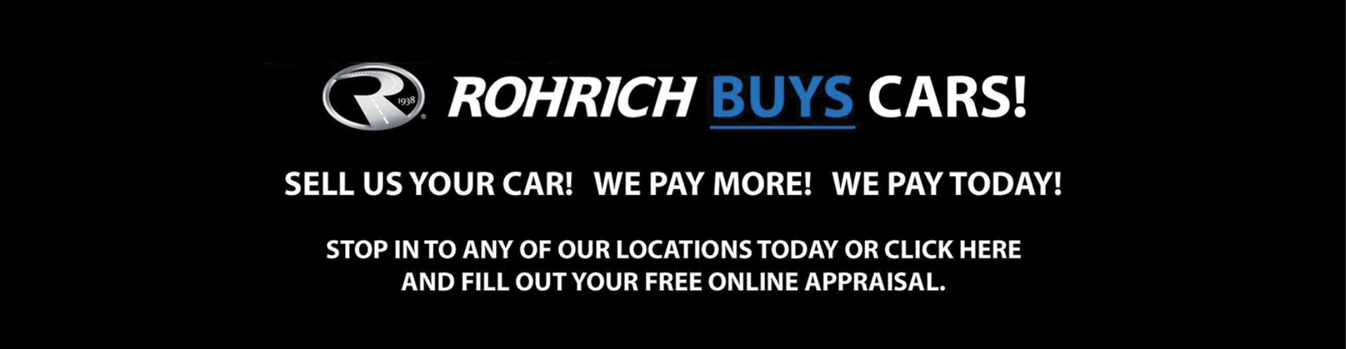 rohrich buys cars! banner