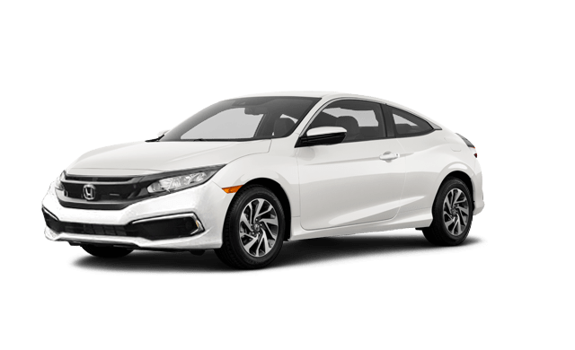 white civic coupe front model view