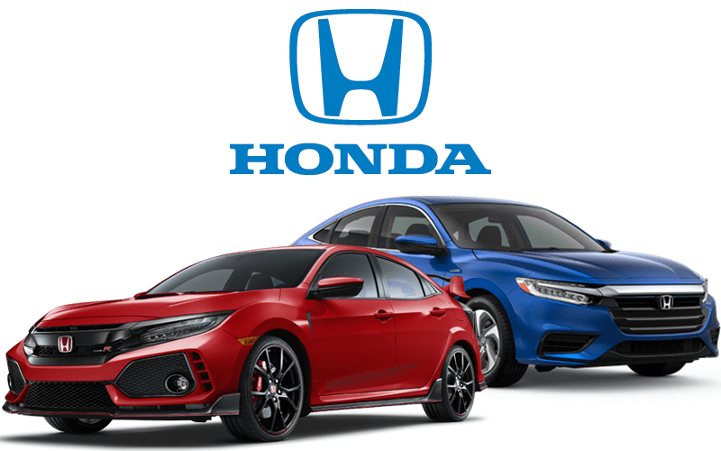 Honda Car and Logo Image
